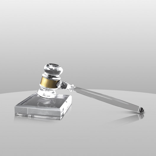 Acrylic Gavel and Sounding Block
